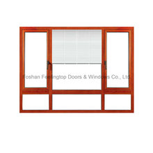 Aluminium Shutter Window with 5mm Double Glazing Glass (FT-W135)